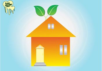 Eco Home Clip Art - Free vector #146501