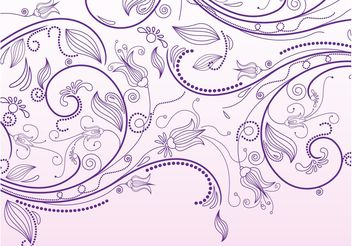 Floral Scrolls Vector Graphics - Free vector #146511
