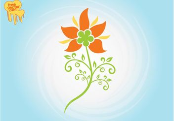 Stylized Flower Graphics - Free vector #146531