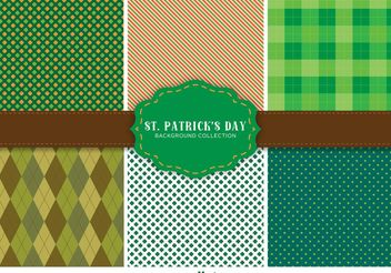St. Patrick's Day Pattern Set - vector gratuit #146571