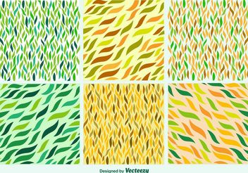 Hand drawn leaves patterns - vector #146661 gratis