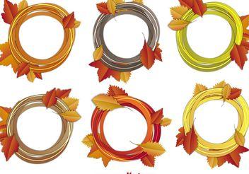 Fall Sketchy Frame Vectors - Free vector #146681