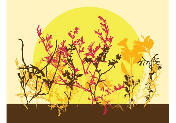 Autumn Flowers - Free vector #146731