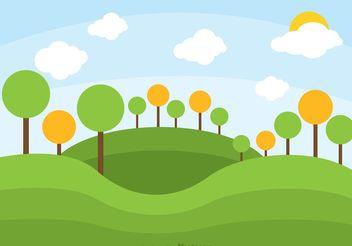 Rolling Hills Landscape Vector - Free vector #146751