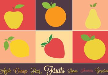 Free Vector Fruits IconSet - Kostenloses vector #146851