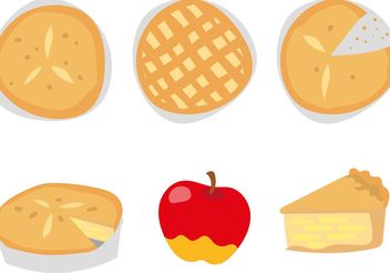 Delicious Apple Pie Vectors - vector gratuit #146921