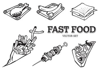 Free Vector Fast Food Set - Kostenloses vector #146961