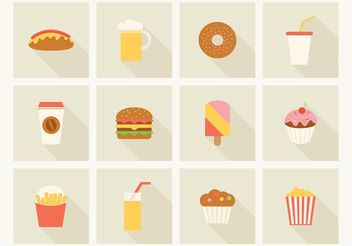 Free Fast Food Vector Icons - Free vector #146971