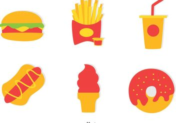 Collection Of Fast Food Vector - Free vector #146991