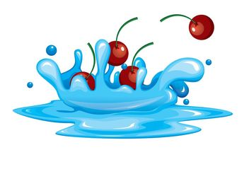 Cherry Fruit Vector Splashes - Free vector #147041