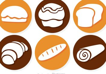 Circle Bread Vector Icons - бесплатный vector #147081