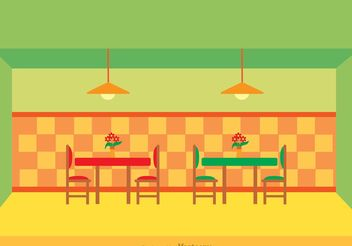 Restaurant Interior Vector - бесплатный vector #147131