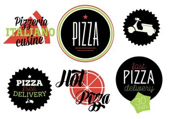 Italian Badge Vectors - Free vector #147171