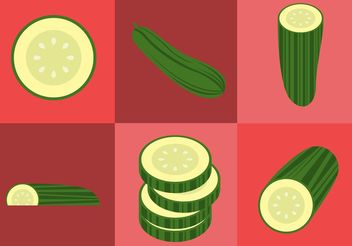 Cucumber Vectors - бесплатный vector #147241