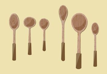 Wooden Spoon Vector Illustrations - бесплатный vector #147391