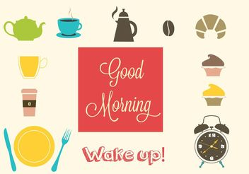Breakfast Vector Set - Free vector #147451