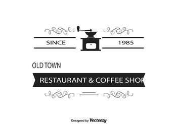 Coffee Shop Logo / Insignia Template - Kostenloses vector #147461