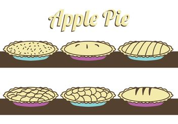 Apple Pie Vectors - vector gratuit #147501