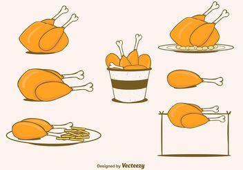 Free Vector Chicken Set - vector gratuit #147521