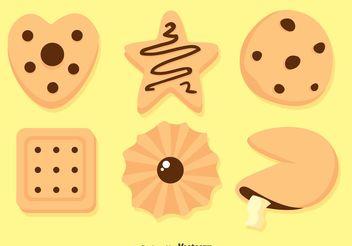 Delicious Cookies Vectors - Free vector #147531