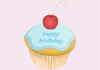 Birthday Cupcake - vector gratuit #147571