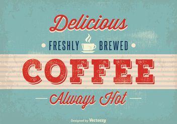 Vintage Coffee Poster - vector gratuit #147711
