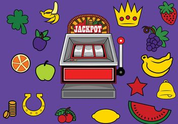 Slot Machine with Prizes - Free vector #147721