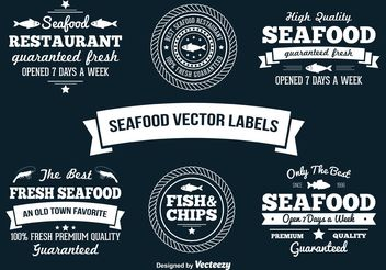 Seafood Vector Labels - vector gratuit #147731