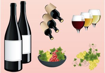 Wine And Grapes - vector #147851 gratis