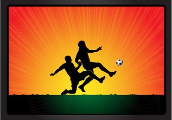 Football Game Vector - vector gratuit #148081
