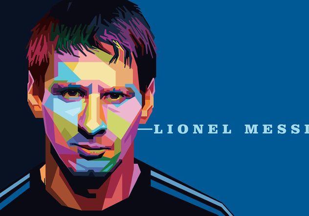 Lionel Messi Vector Portrait - бесплатный vector #148101