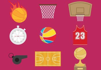 Basketball Vector Icons - vector #148121 gratis