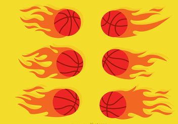 Basketball On Fire Vector - Free vector #148141