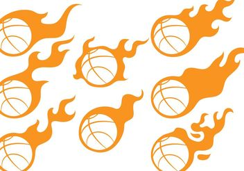 Basketball Fireball Vectors - бесплатный vector #148171