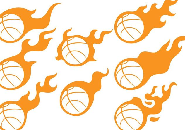 Basketball Fireball Vectors - Free vector #148171