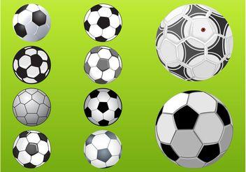 Soccer Balls Set - Free vector #148241