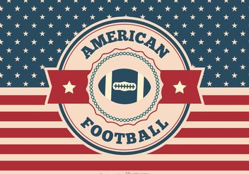 American Football Illustration - Free vector #148341