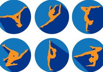 Gymnastics Silhouette Vectors - Kostenloses vector #148511