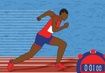 Track & Field Vector Illustration - Free vector #148561