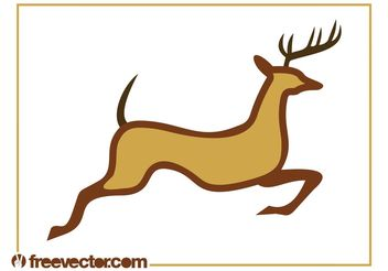 Running Reindeer Graphics - Free vector #148661