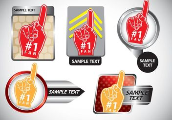 #1 Foam Finger Vector Pack - vector gratuit #148721