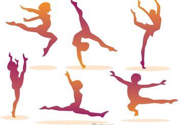 Girl Gymnastic Vectors - Kostenloses vector #148741