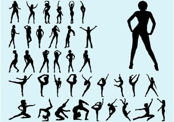 Dancing Women - vector gratuit #148771