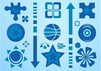 Blue Icons Collection - Free vector #148801