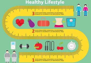 Healthy Measuring Tape Vector Background - vector #148821 gratis