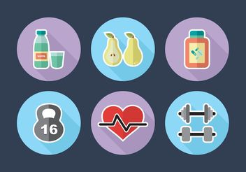 Diet Icons Vector Free - Free vector #148851