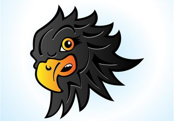 Hawk Head Cartoon - vector gratuit #148901