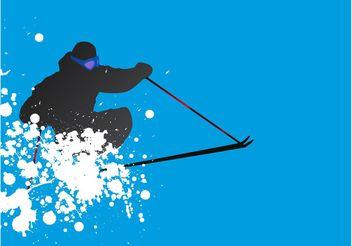 Ski Vector - Free vector #148991