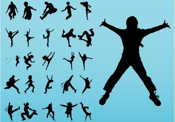 Jumping Kids - Free vector #149011