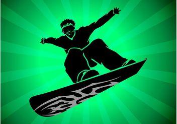 Snowboard Vector - Free vector #149021
